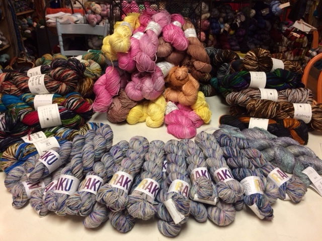 RAKU on display at Knitty City.
