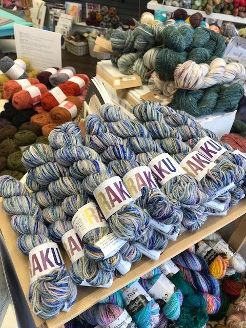 A pile of RAKU at Knit2 Yarns!