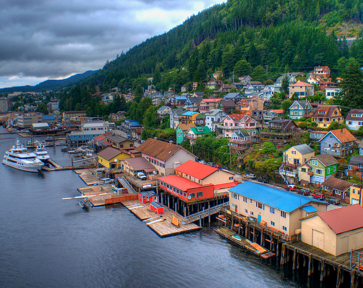 View of Ketchikan by the water (Photo via Fine Art America).