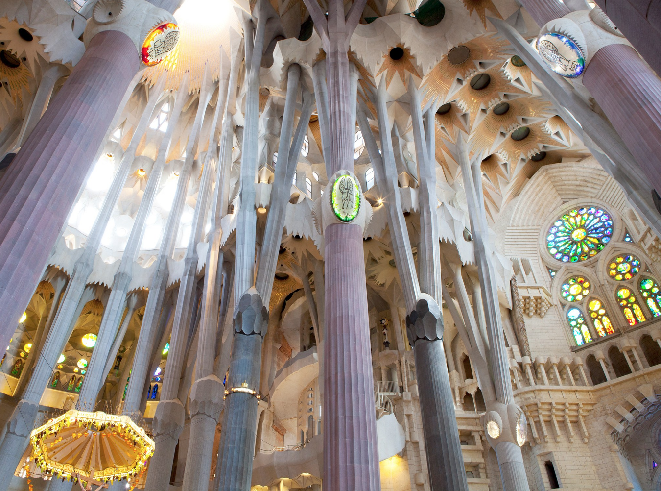 Inside of the Sagrada Familia in Barcelona! (photo via Condé Nast Traveler) Beautiful, massively intricate church that has been constantly added to since 1882.