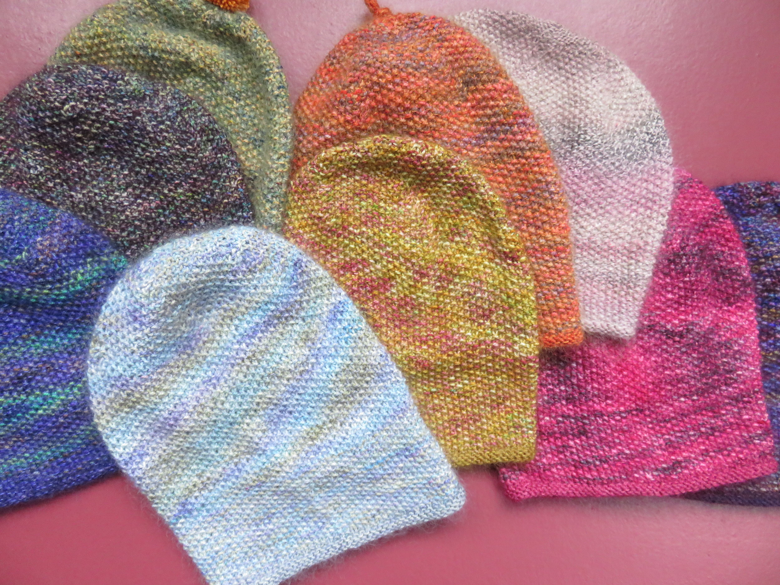 Jan - Hats using KPPPM and Canadian Mohair