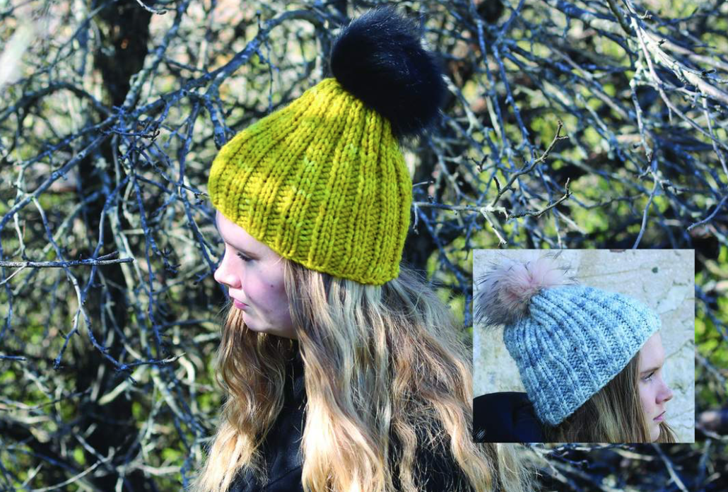 Quick Knit Pom Pom Hat