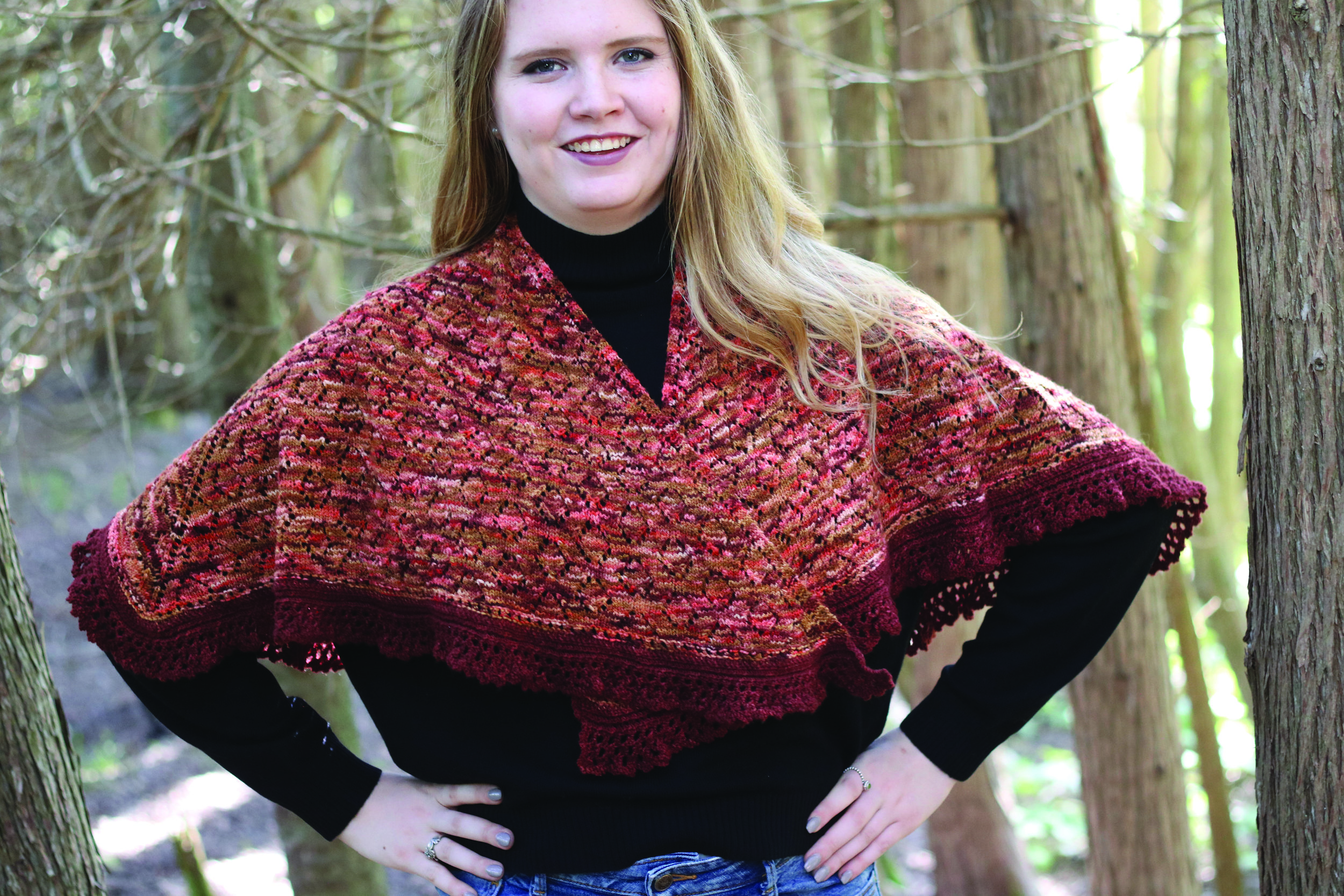 Four Wedge Shawl  By: Melissa Leapman