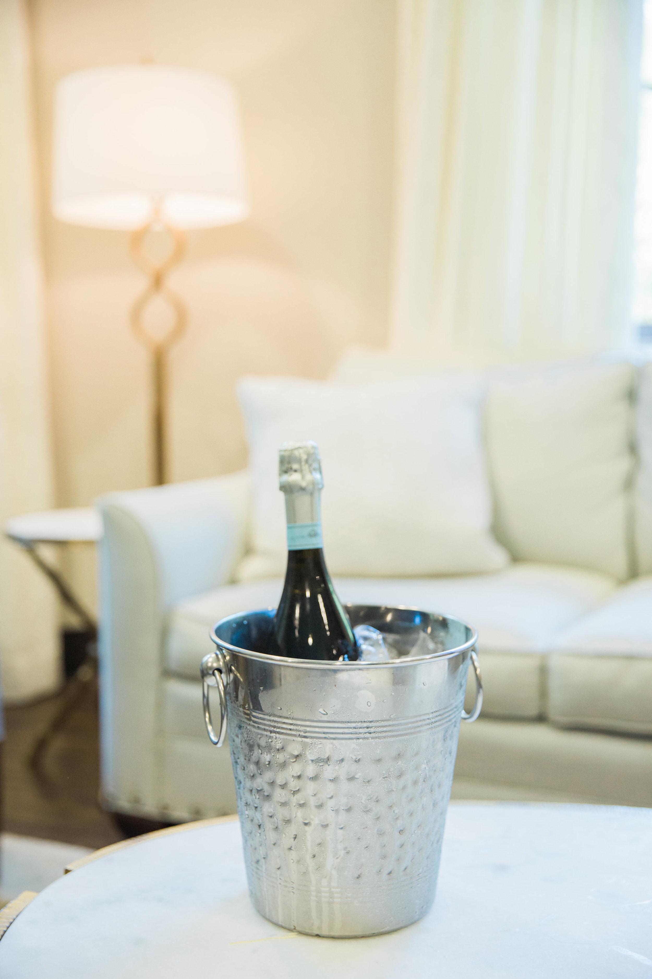 wedding day champagne