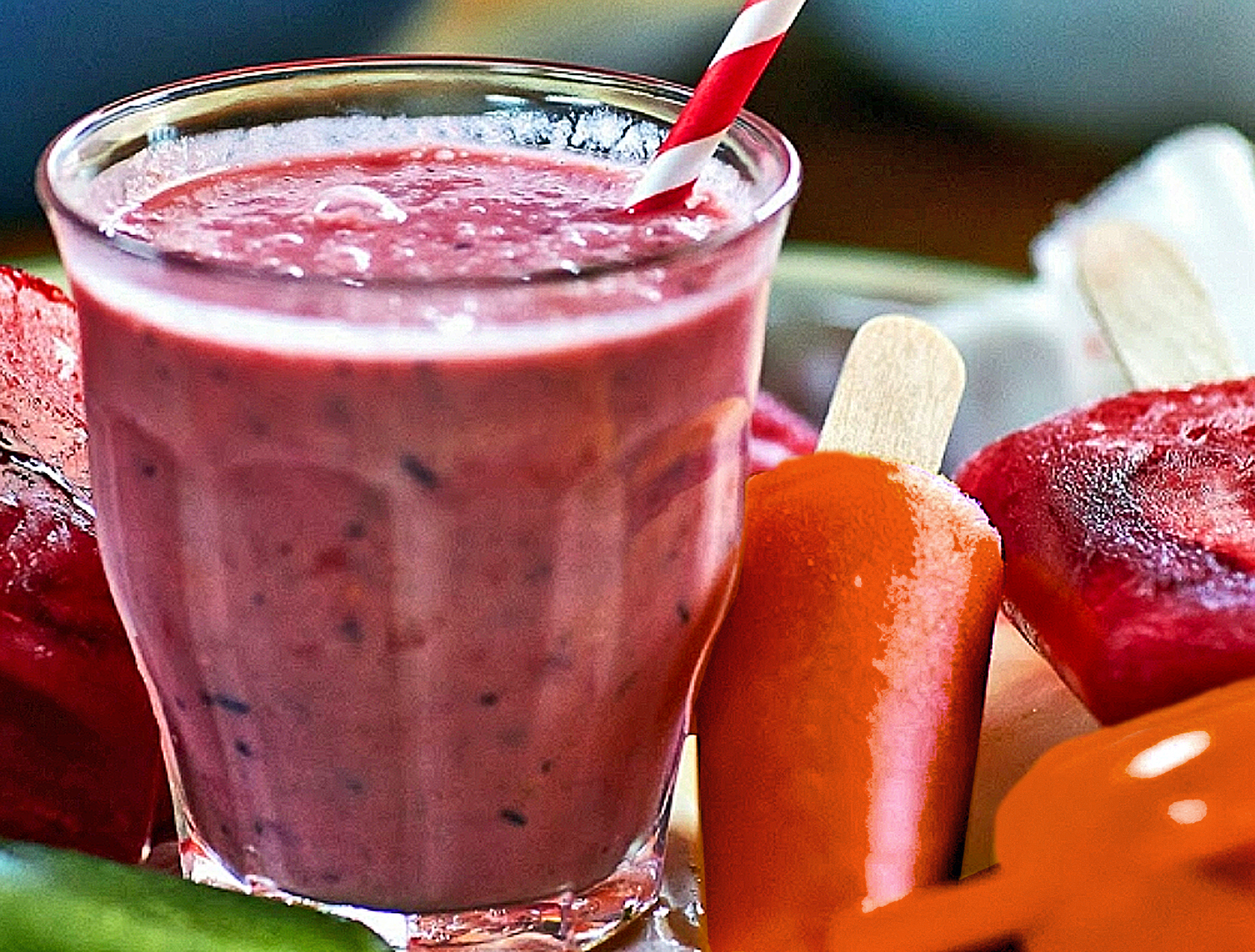 Healthy Berry Smoothie Berry Ice Lolly