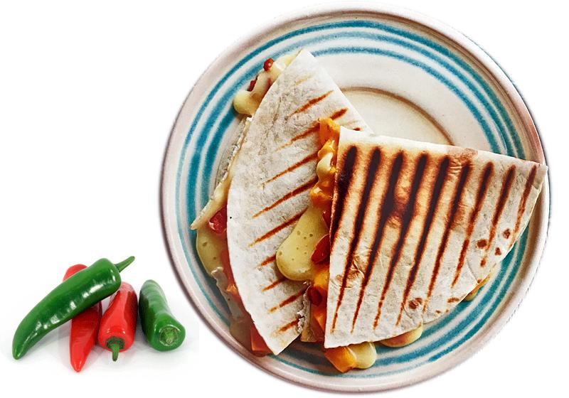 Mango, Brie, Jalapeno Quesadillas