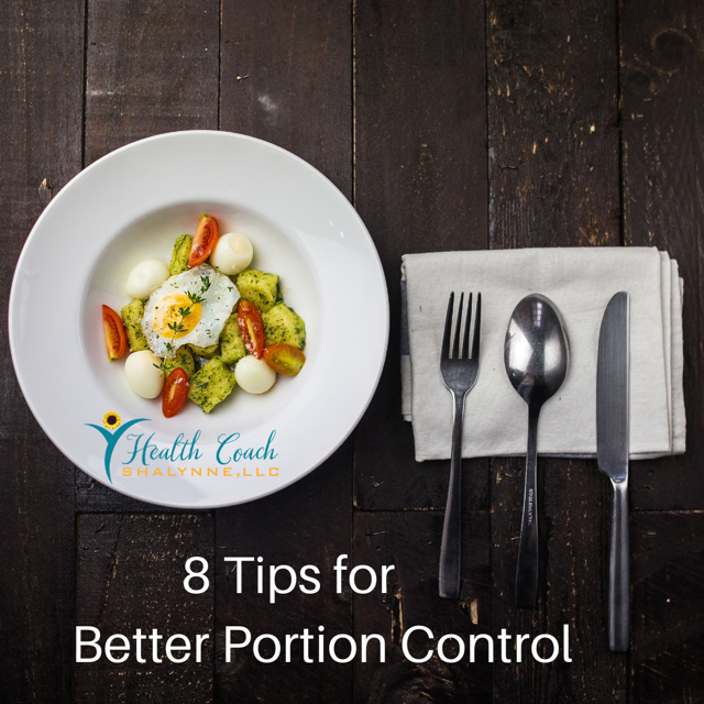 Portion-control for eating is the key.