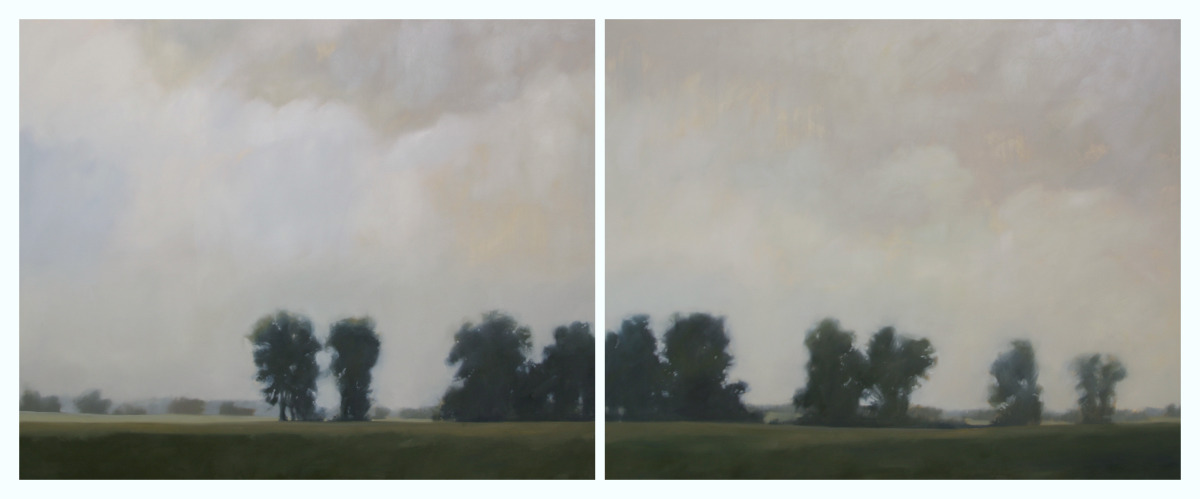 Grounded (diptych), 48x120 inches