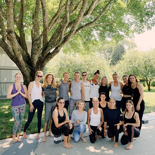 An amazing morning of self-care with some close friends + women i admire 🦋💫🔮 thank you @juliedwald + @namastenewyork for leading a little yoga sesh, guided meditation + reminding us that a little self-love is always needed 💕 #CuratedbyJamie