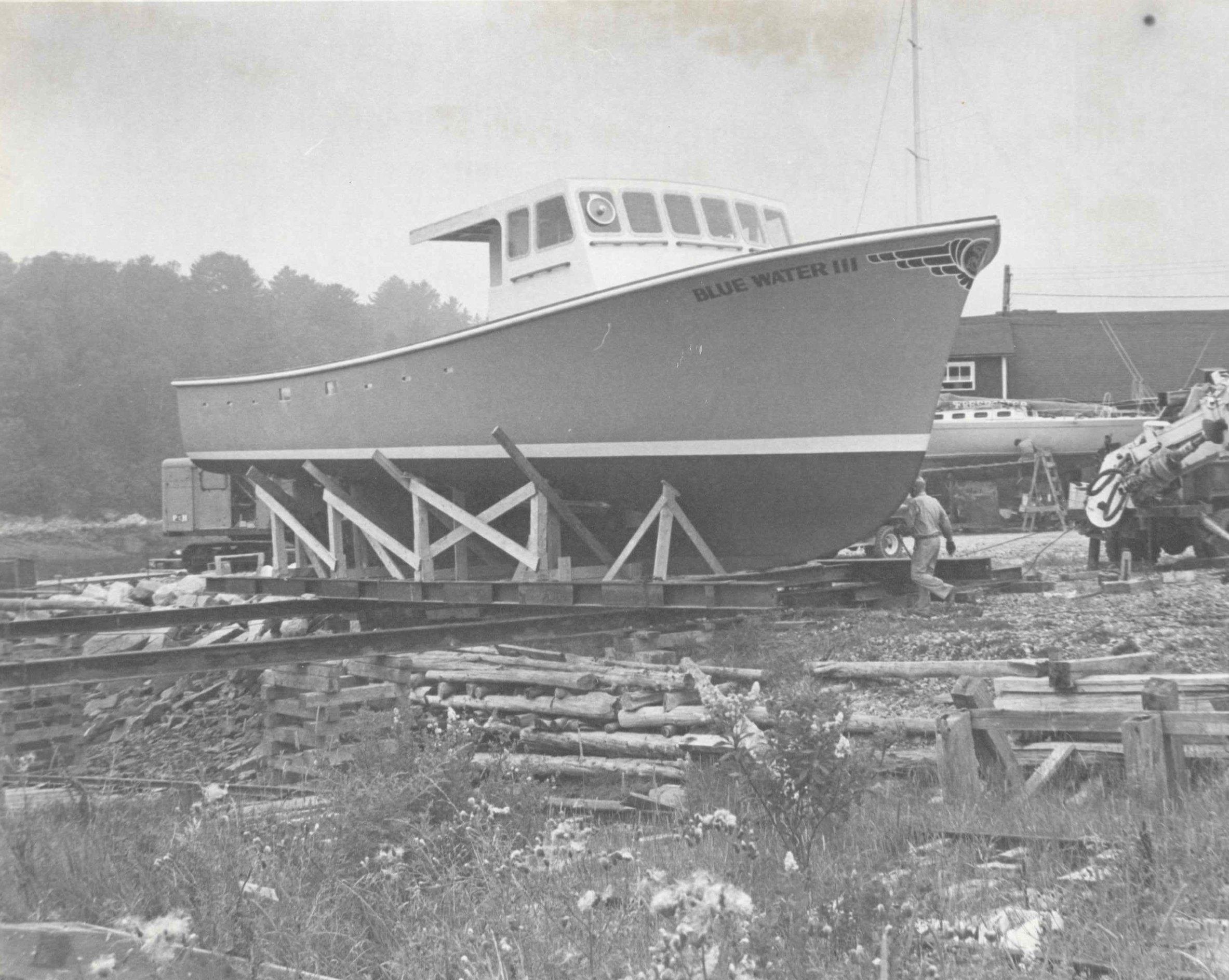 Blue Water III. Webber's Cove Boatyards. Blue Hill, Maine.