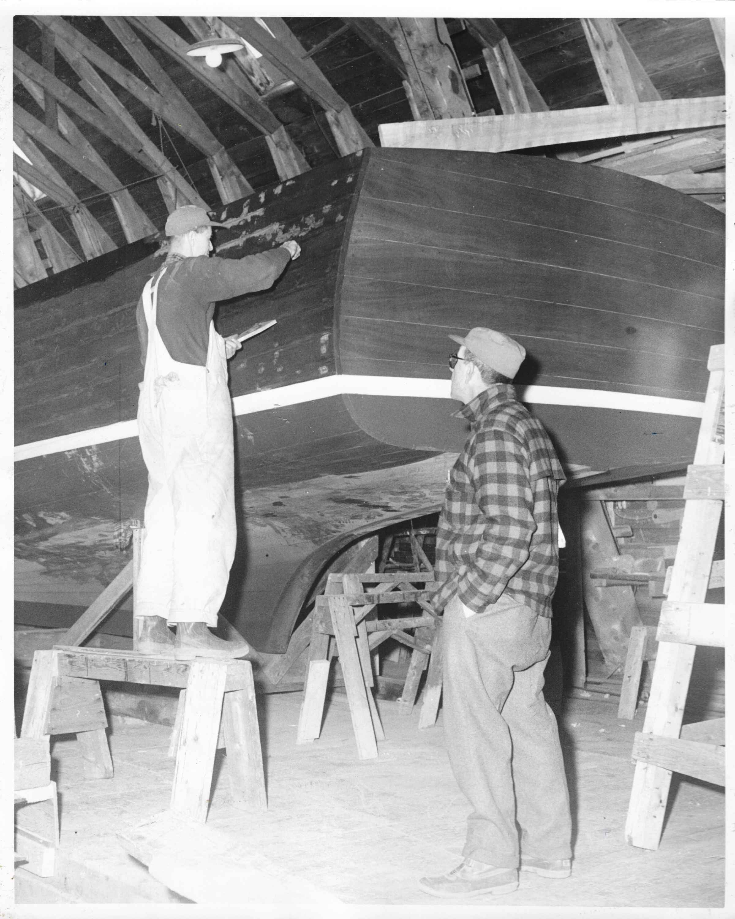 Vintage moments from Webber's Cove Boatyards. Blue Hill, Maine.