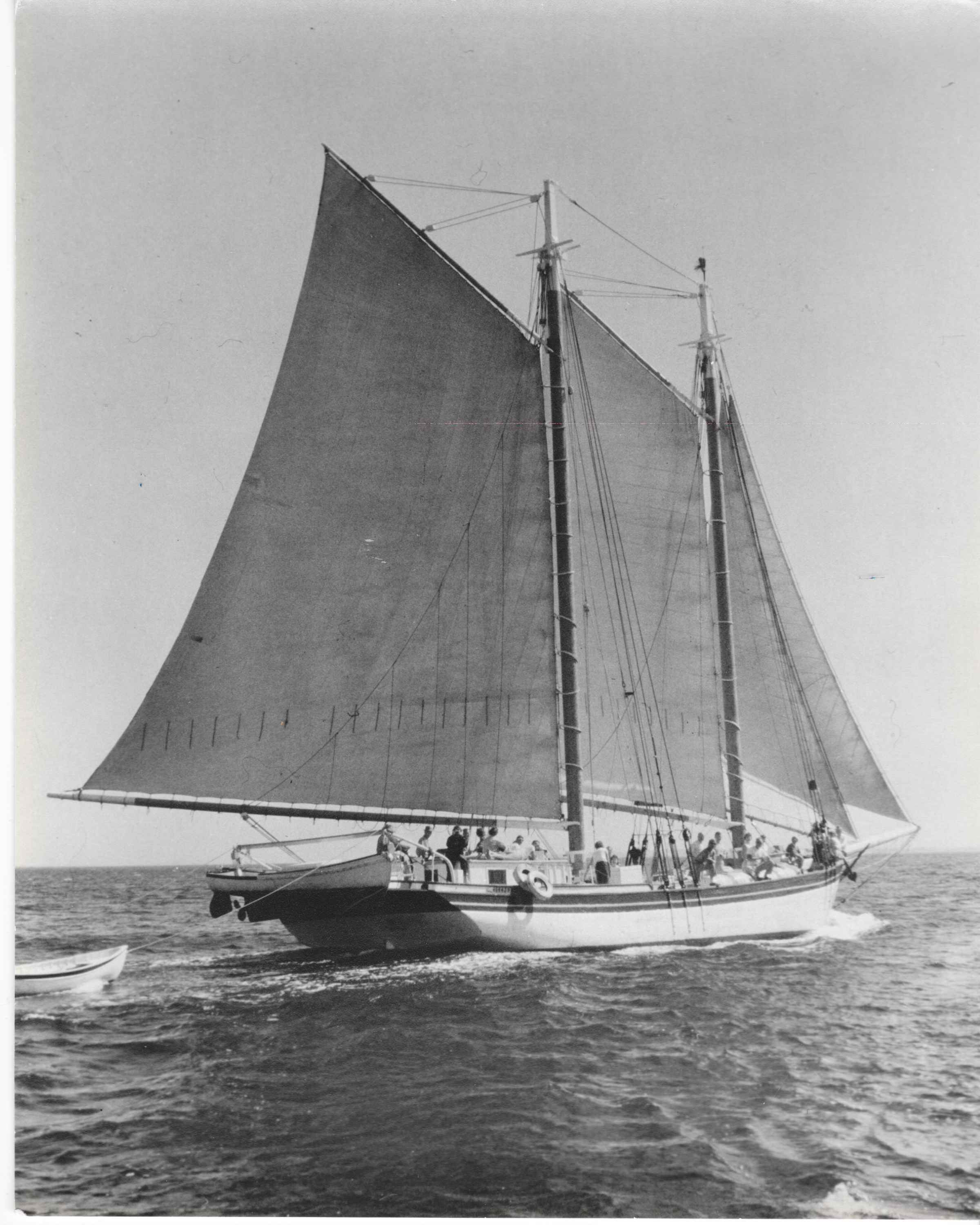 STEPHEN TABOR on Blue Hill Bay, c.1960s. Webber's Cove Boatyards. Blue Hill, Maine.