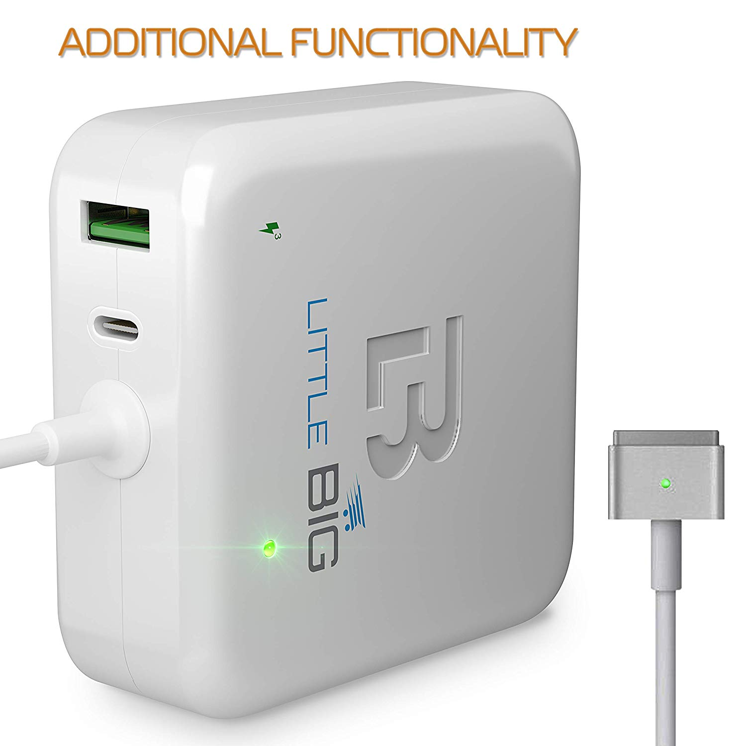 LittleBIG 60W Magsafe 2 charger