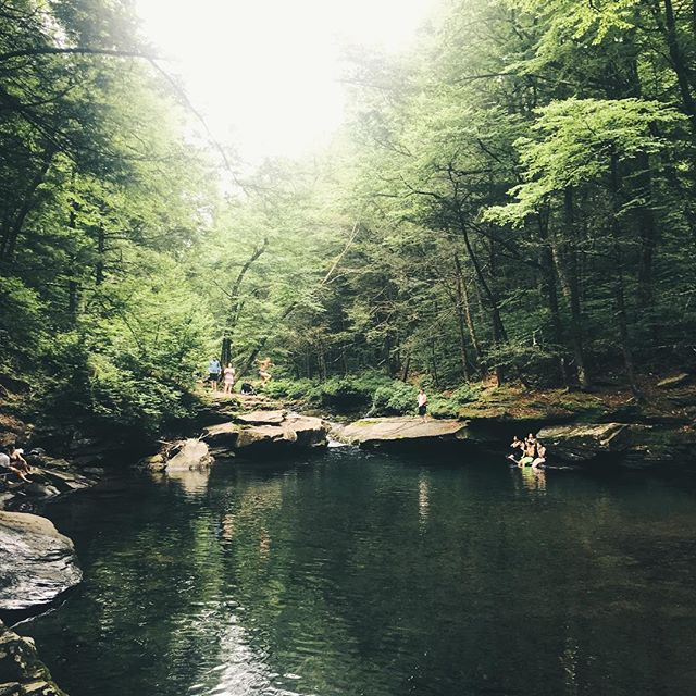 (3/3) Want the inside scoop to the best outdoor adventures around the Catskills? There are so many amazing swimming holes, waterfalls, trails, rivers, and mountains around the Catskills and we've put in the footwork to find them, experience them, and pass along our best tips. At Base Campo, we put together custom weekend itineraries for our campers to discover the outdoors 🌲. Link in bio⛺️! Pictured above is last week's adventure to one of our favorite swimming holes that'll make you feel like you're in a wild jungle: 📍 Location: Peekamoose Blue Hole 🚶‍♂️ Distance: 4 minute walk from parking 🏊‍♀️ What you'll need: Towel, swim suit, goggles, car, trash bag, *permit* (starting June 30 - DEC Day Permit) 🌲 Hike: Peekamoose Mt. trail (10 mile out and back) 🍳 Food pit stop: Phoenicia Diner 🏙 Distance from NYC: 2.5 hr • PC @hellocampo adventuring with @kpanda 🕴🏻 • • #ispyny #hellocampo #campingvibes #thenortheastcollective #eastcoastcreatives #newyork #outdoorsnewyork #mtnfolk #basecamp #basecampo #escapebrooklyn #escapebklyn #excapethecity #summercamp #thecatskills #naturelovers #naturephotography #visitthecatskills #visitupstate @narcityusa #welovetoexplore #throughthepines #starrynight  #cabins #thecabinchronicles #tinyhouse #narcity #liveauthentic #contentwithless #wildernessculture