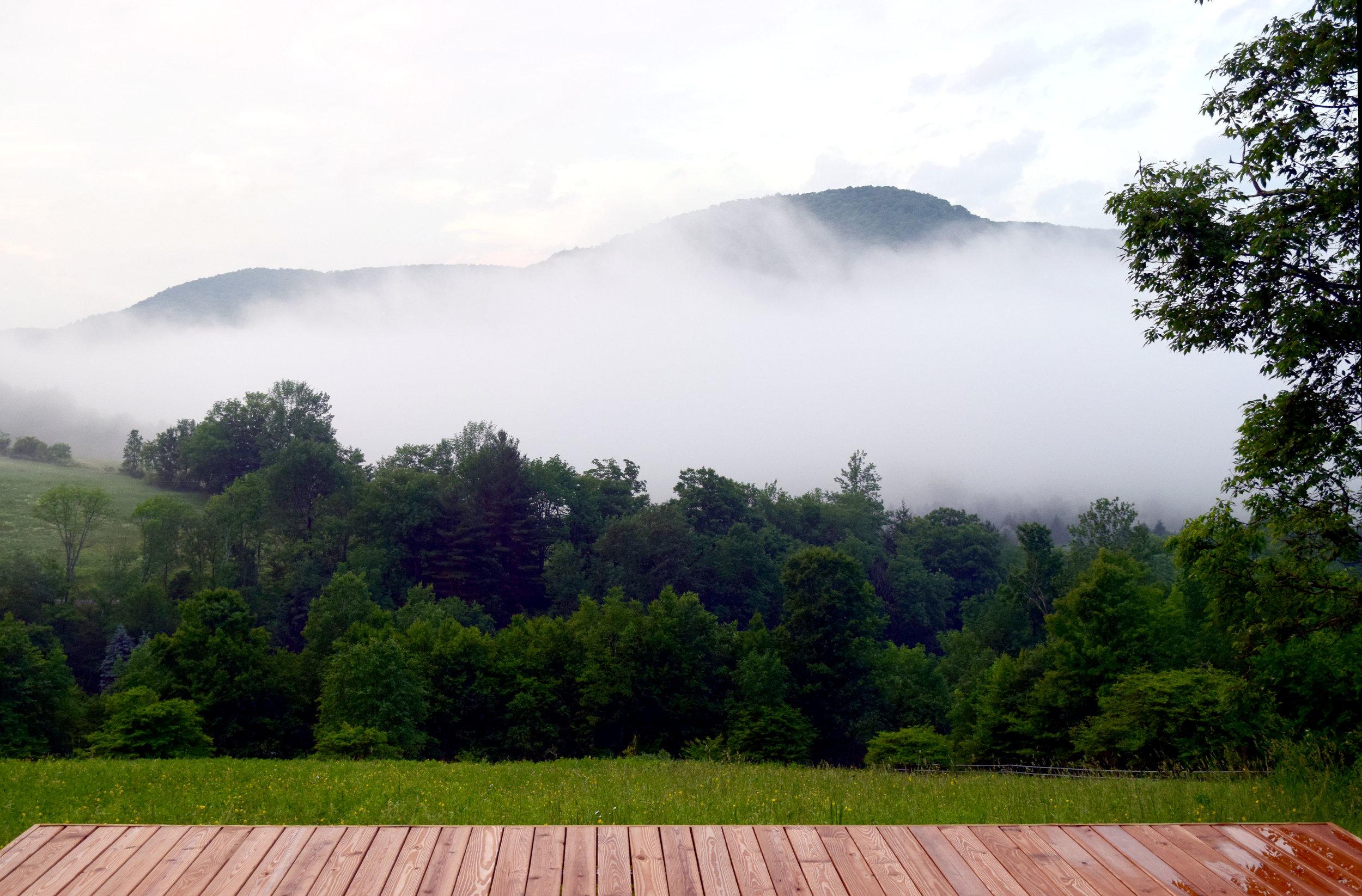 mountainside meditation deck