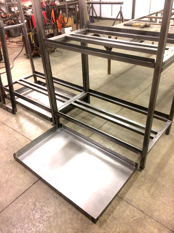 Steel Fabricated Metal Shelving