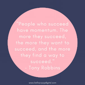 Tony Robbins Quote Momentum
