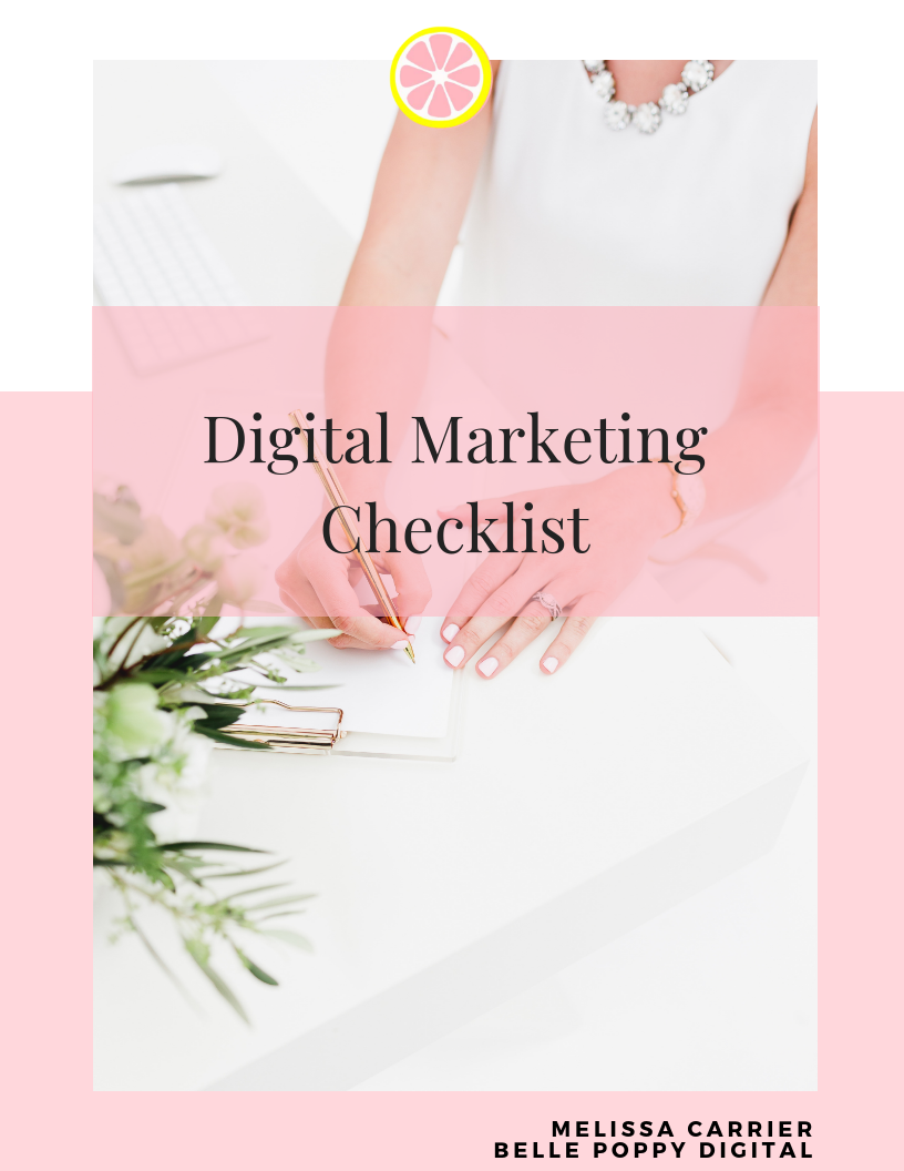 digital marketing checklist free