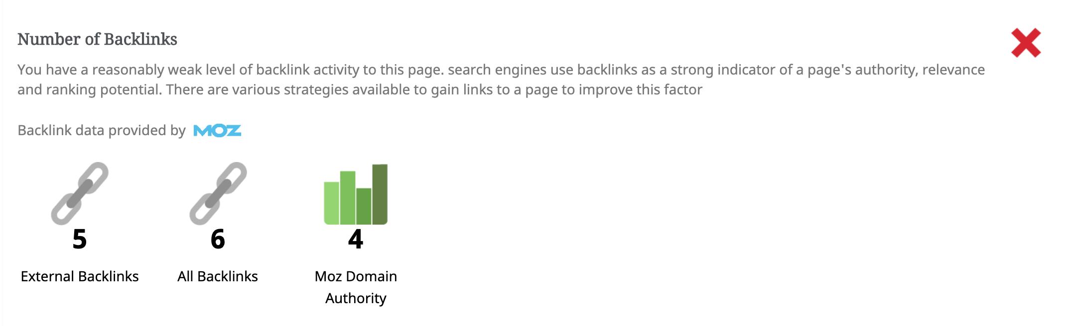 SEO Audit Backlinks analysis
