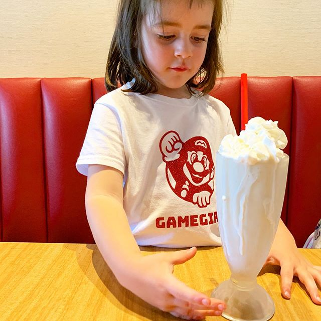 Wearing her sister's custom @shoplemonadestand #gamegirl tee