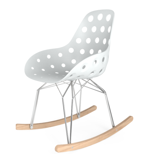 Dimple Rocking chair white