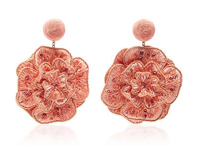 Silk Petal Flower  Earring