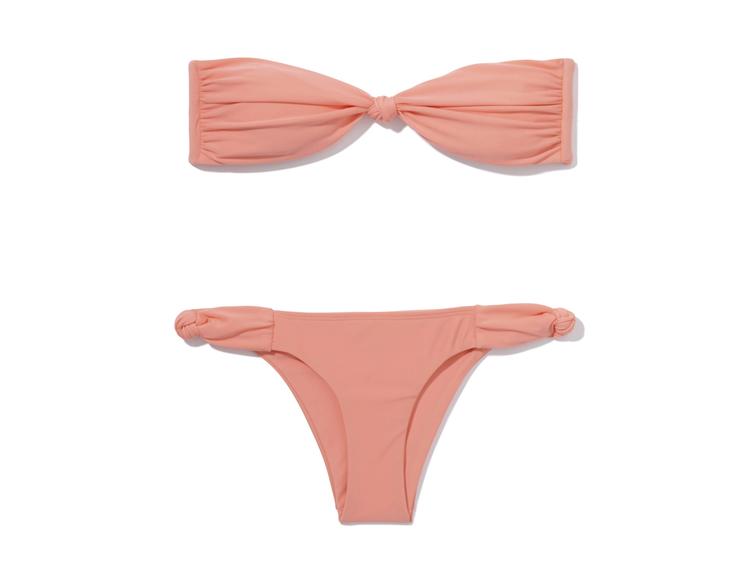 La Marée Peach Bandeau Bikini