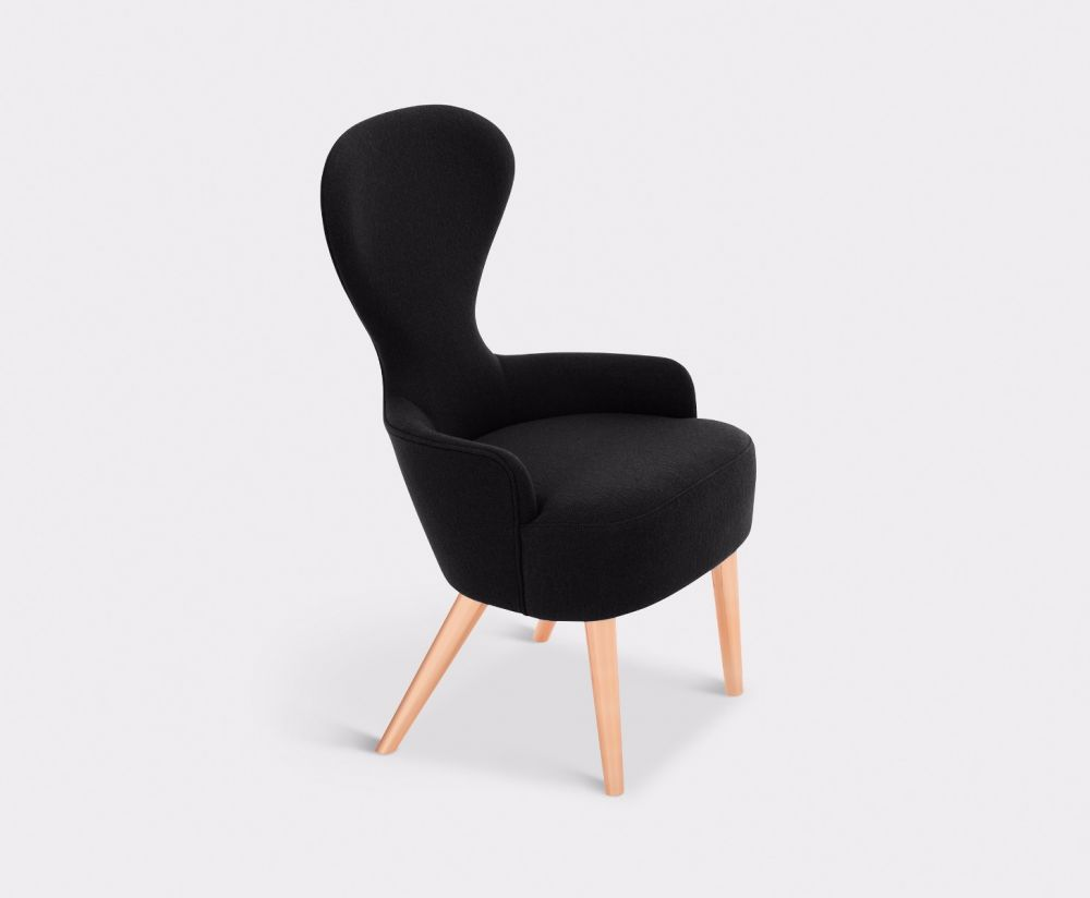 Wingback Dining Chair Copper Leg Hallingdal 65 by Tom Dixon