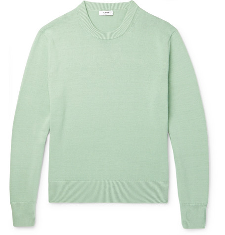 Cmmn Swdn Colby Crewneck Sweater in Mint Green