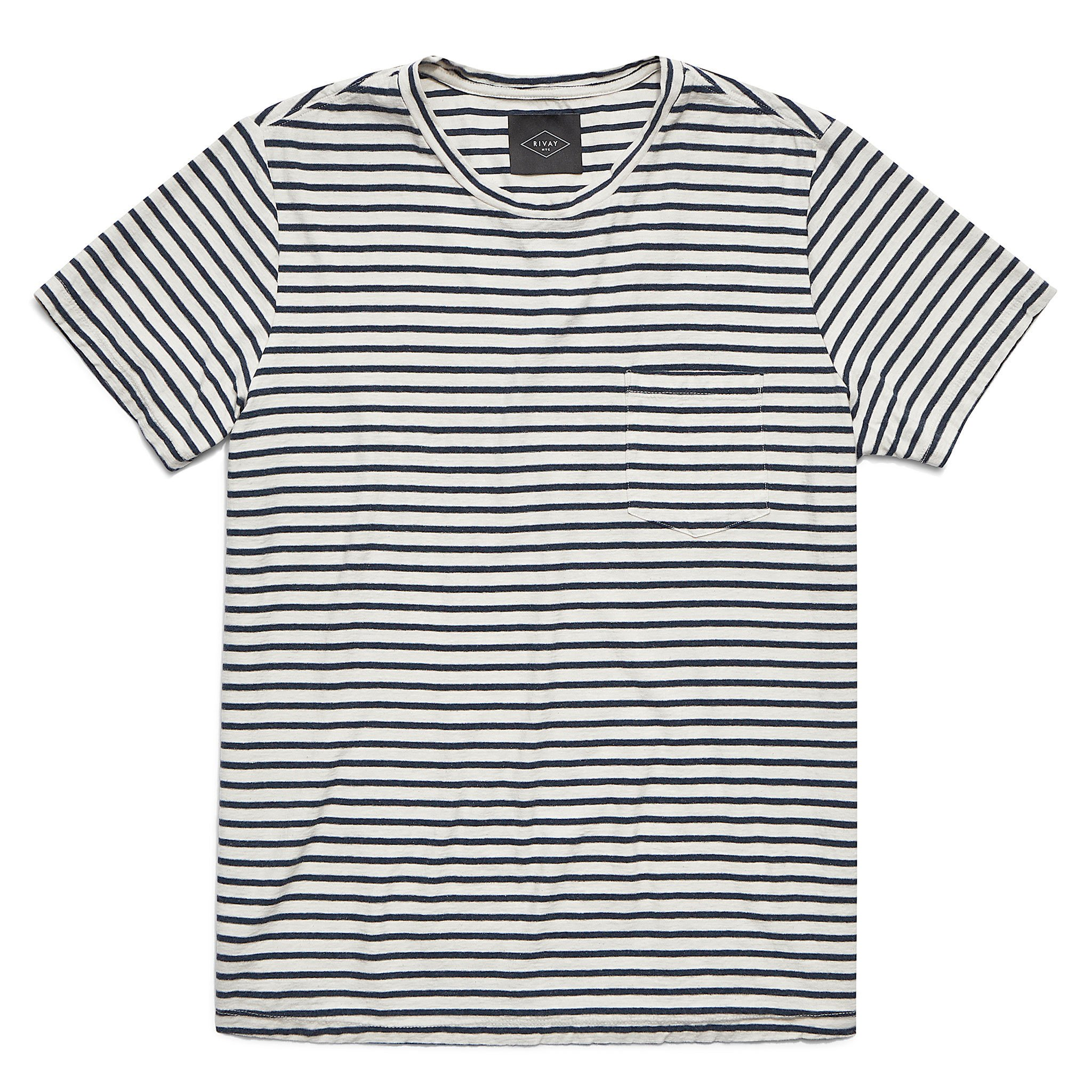 Rivay Jasper Stripe Pocket T-Shirt