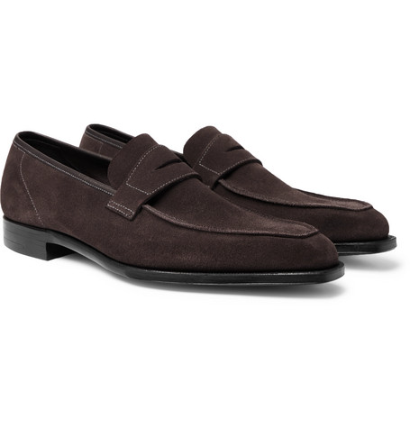 George Suede Penny Loafers – George Cleverley