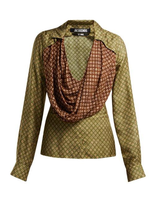 Saabi cowl-neck satin blouse – Jacquemus
