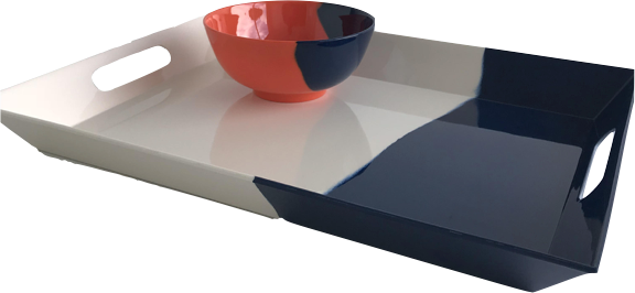 Half and Half Hand-Painted Tabletop – Thomas Fuchs