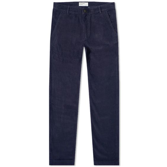 Universal Works Aston Cord Pant in Blue