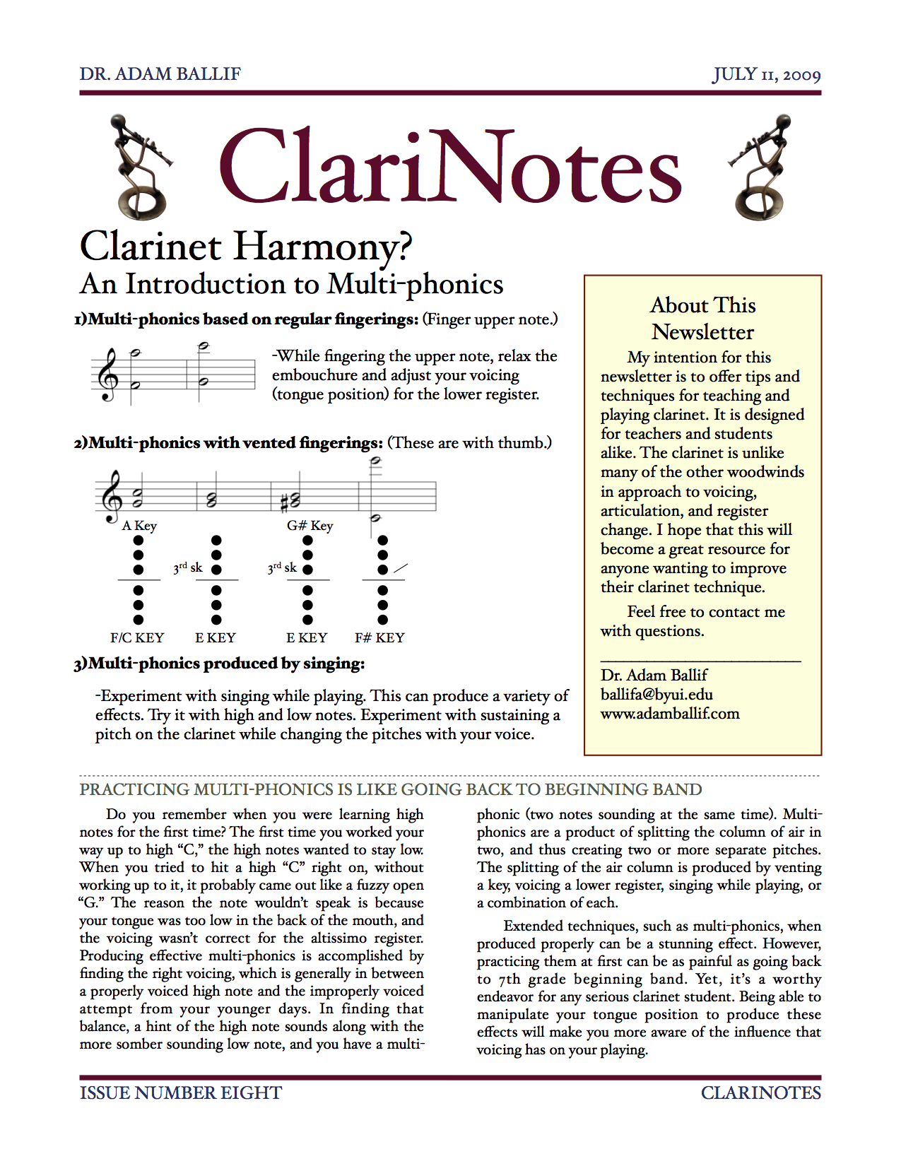 Issue Eight - Multiphonics