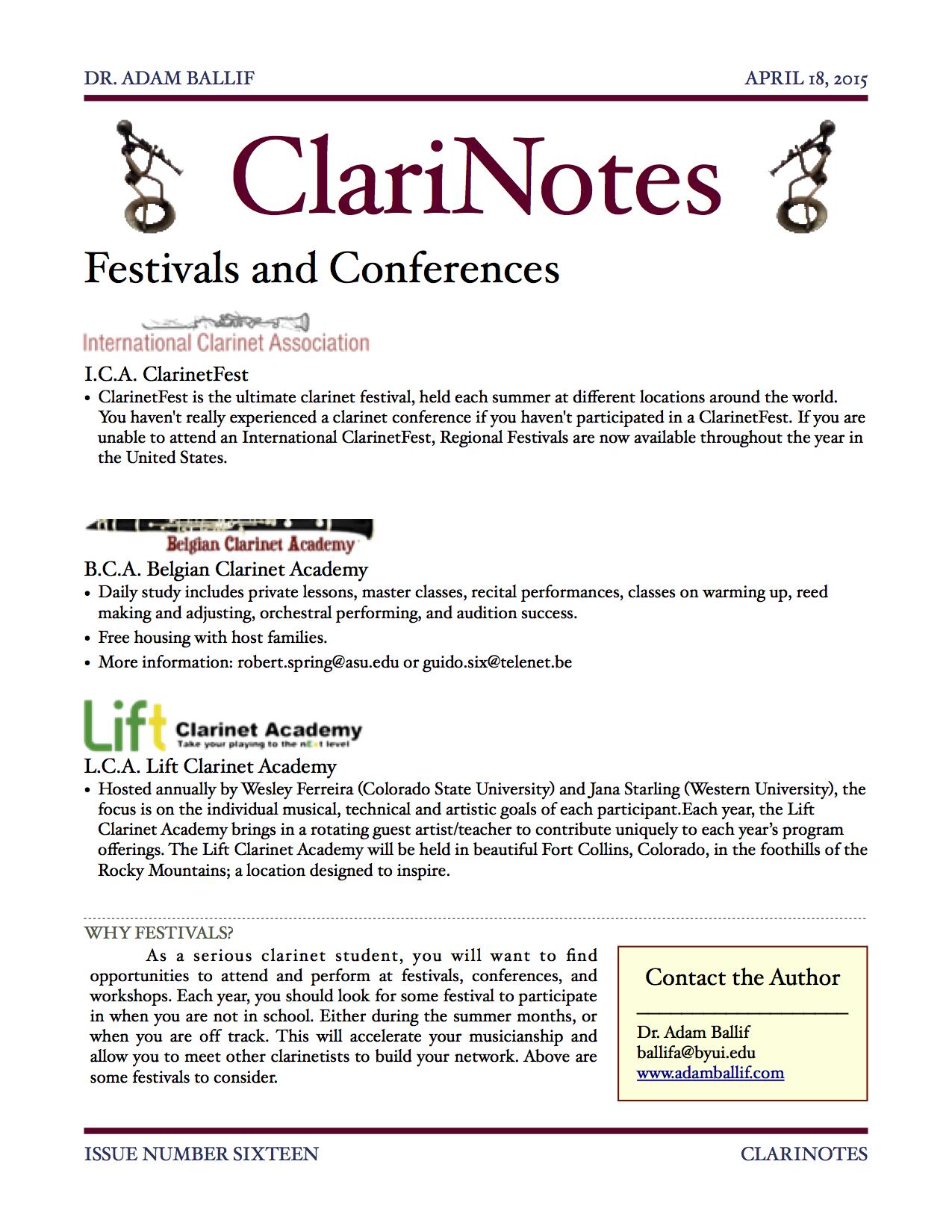 Issue Sixteen - Festivals