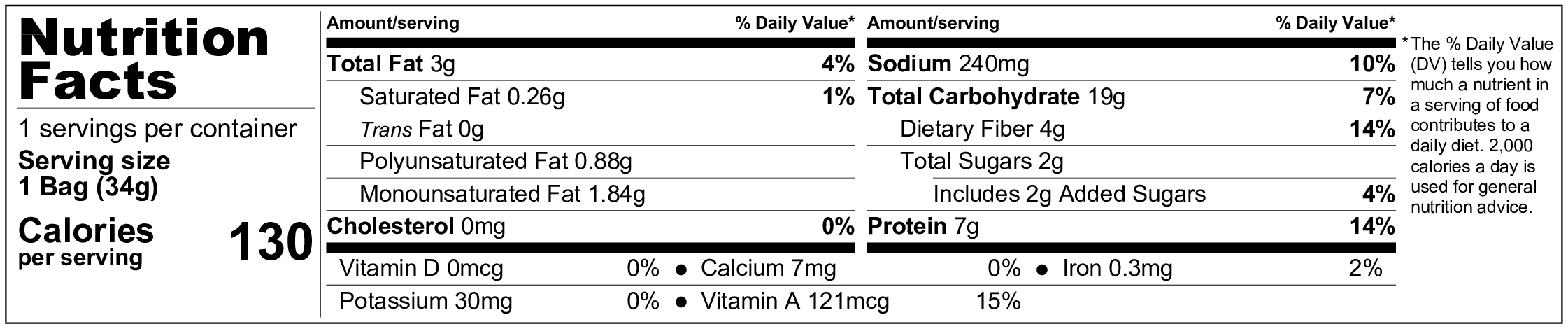 Nutrition facts PLANETARIANS Sunflower Chips Fiery Sriracha Horizontal.png