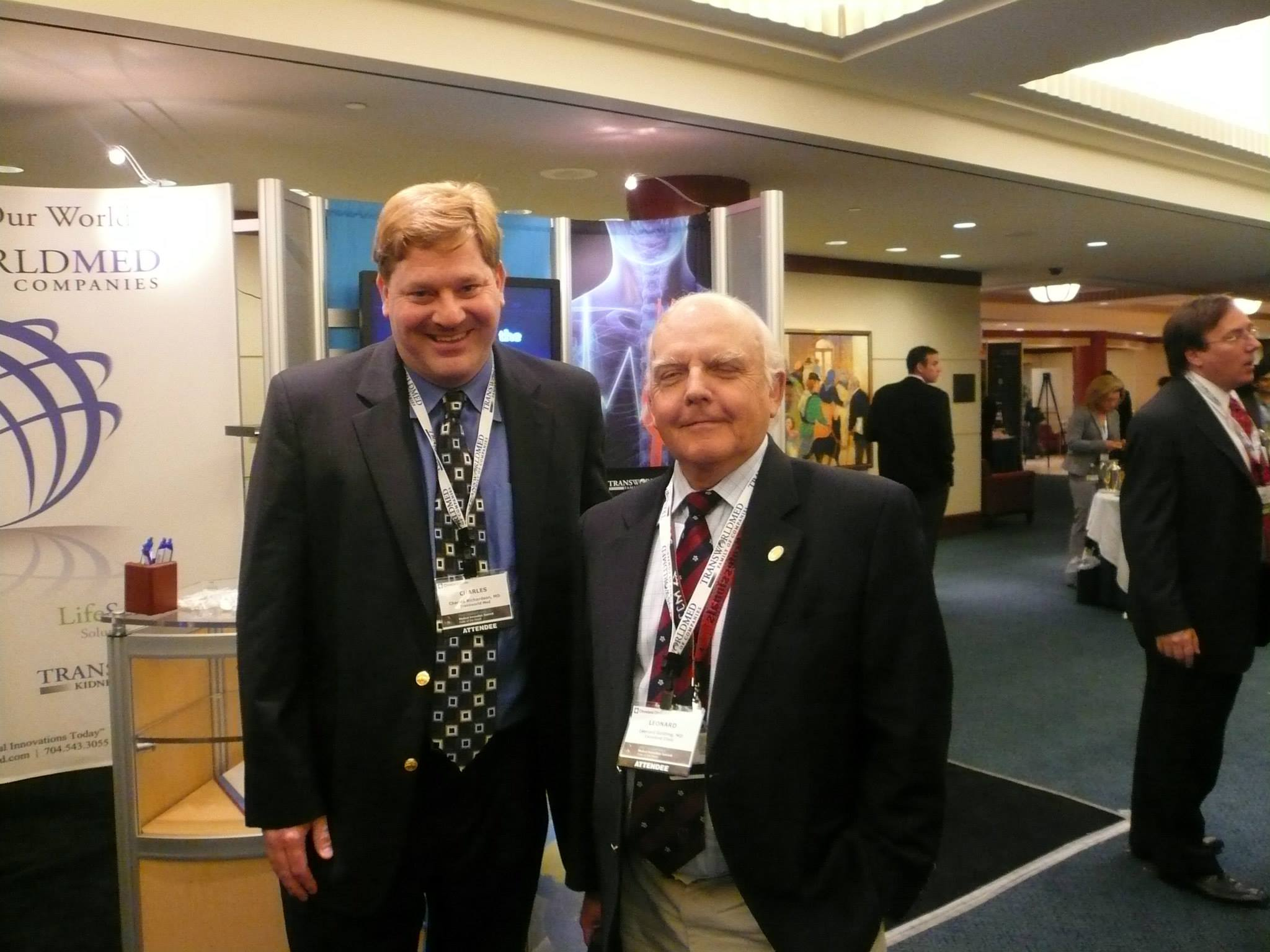 Dr. Charles Richardson and Dr. Leo Golding of both TransWorld Med and Cleveland Clinic