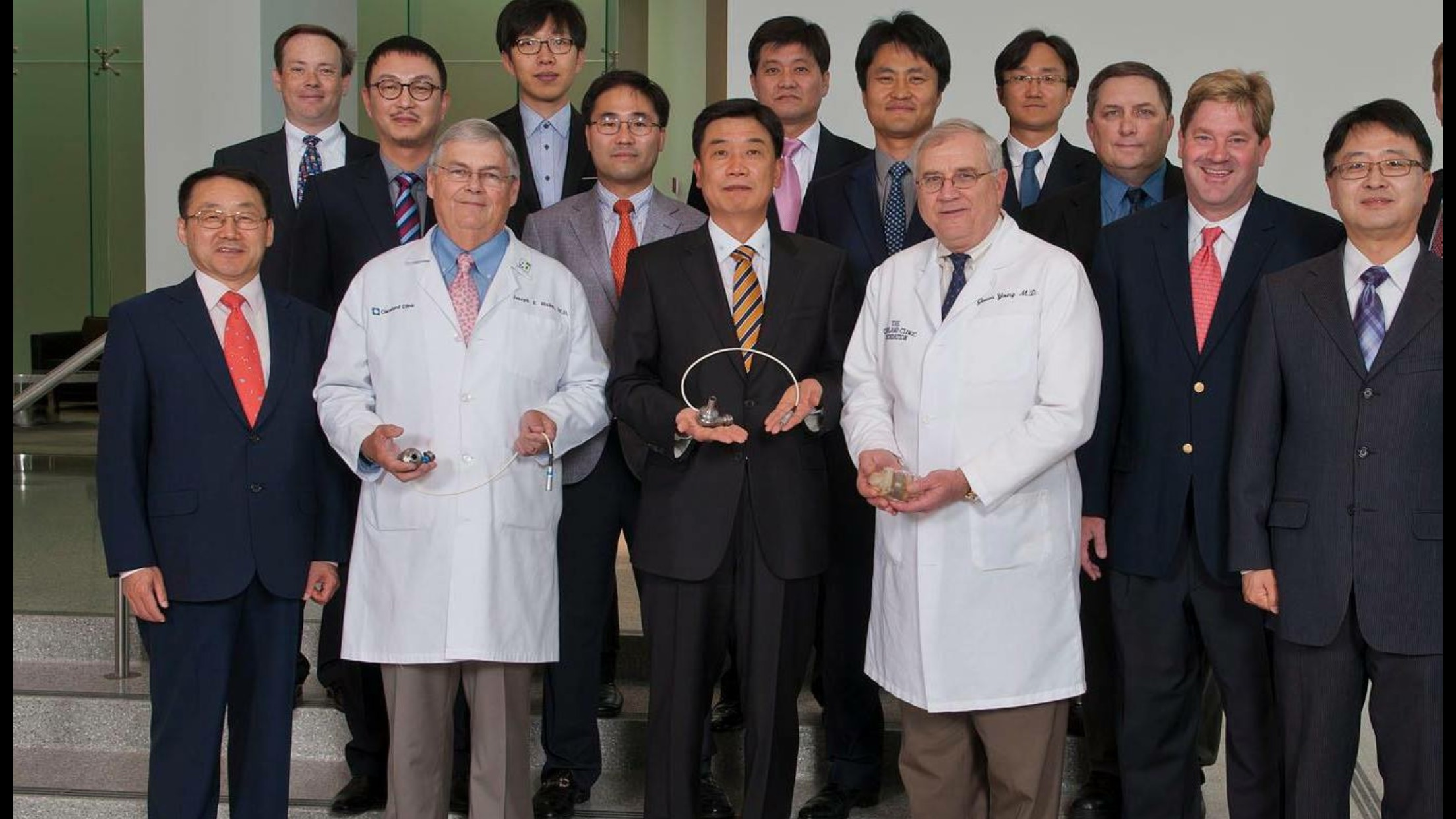 Artificial Organ Leadership Team- Cleveland Heart - Chairman, Board of Directors KH Lee JD and Chris Kim JD winning team with Cleveland Clinic doctors.