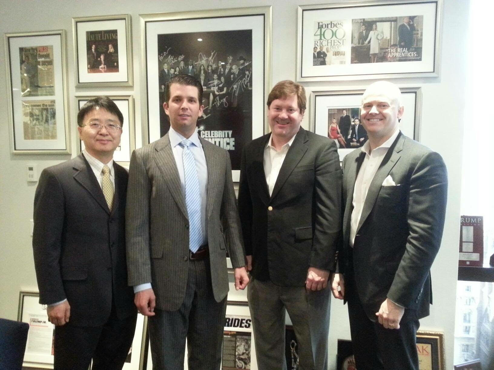 Chris Kim J.D., Donald Trump Jr., and Dr. Charles Richardson building healthcare innovation together.