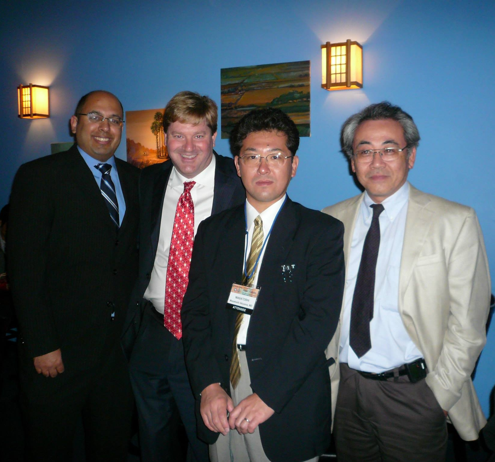 Dr. Maz, Dr. Fukamachi, Dr. Charles Richardson and Dr. Santash Rao, Cleveland Clinic with Cleveland Heart on Total Electric Heart and Transport System.