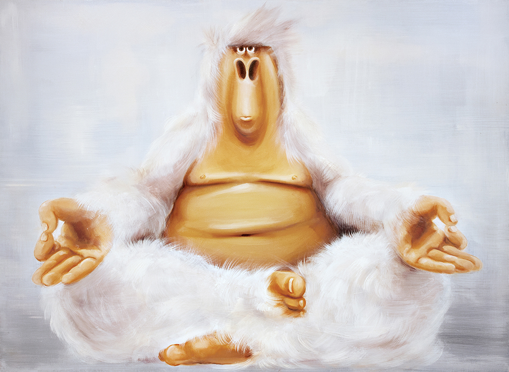 "SOLD - Buddha, 16x20"""