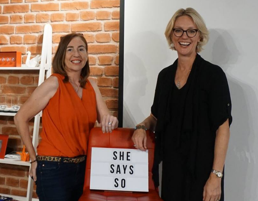 Cath Vincent and Diana Thomson, Founders of She Says So speaking program for women.