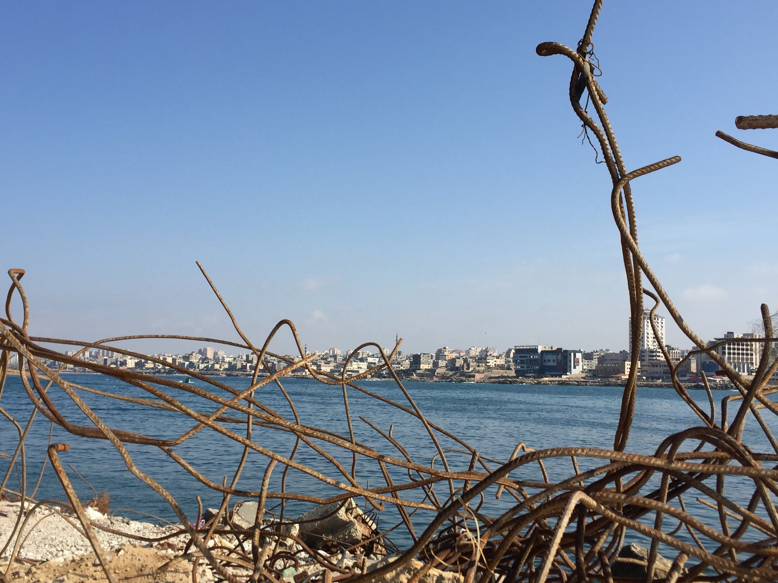 Gaza harbor - whose walls are extended with every shelling