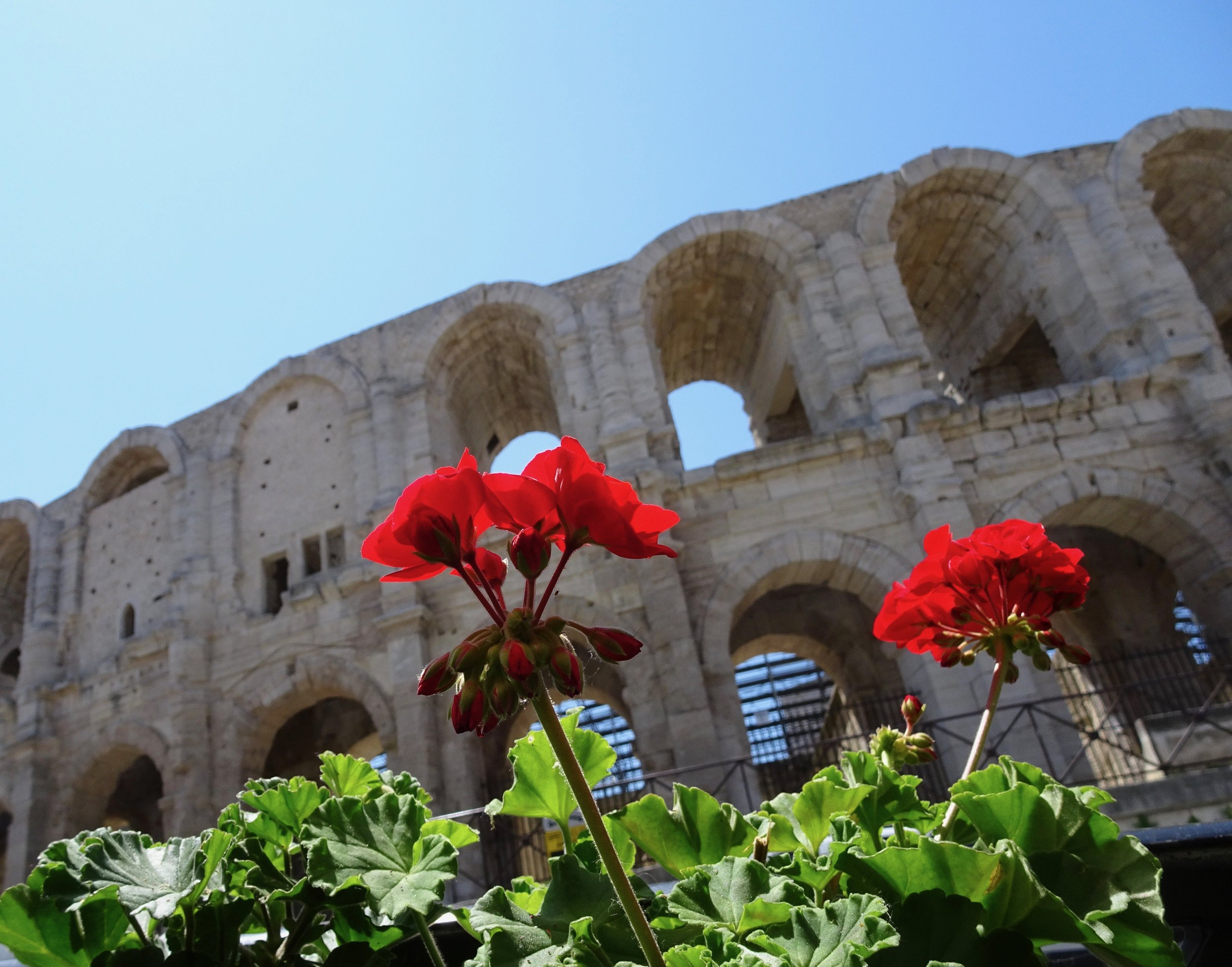 Arles, smaller than Nimes, but cleaned