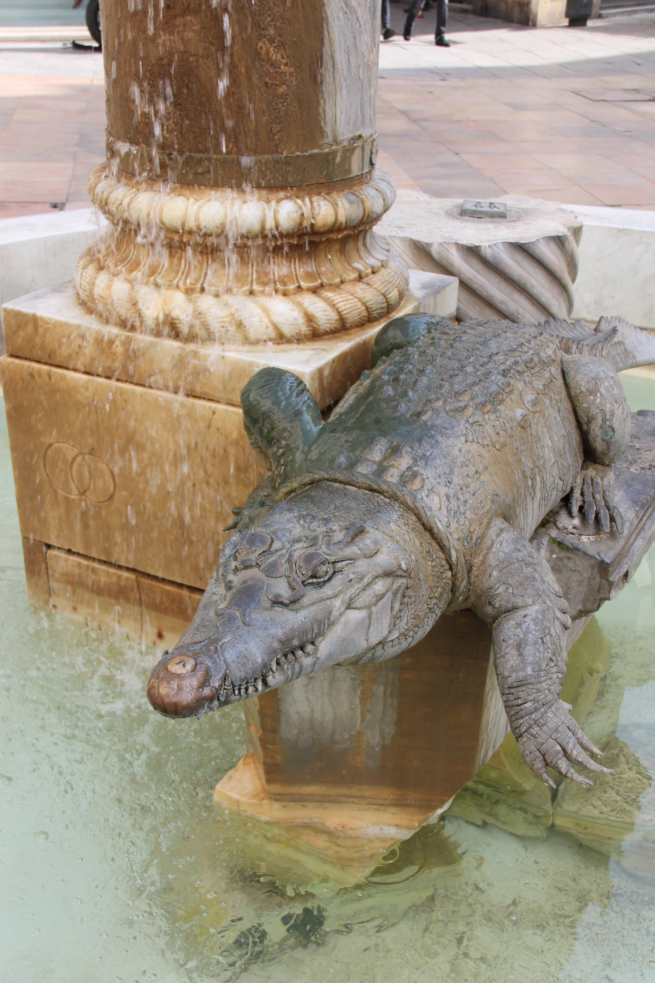 The crocodile of Nimes, a reminder for the legionnaires of times in Egypt perhaps?