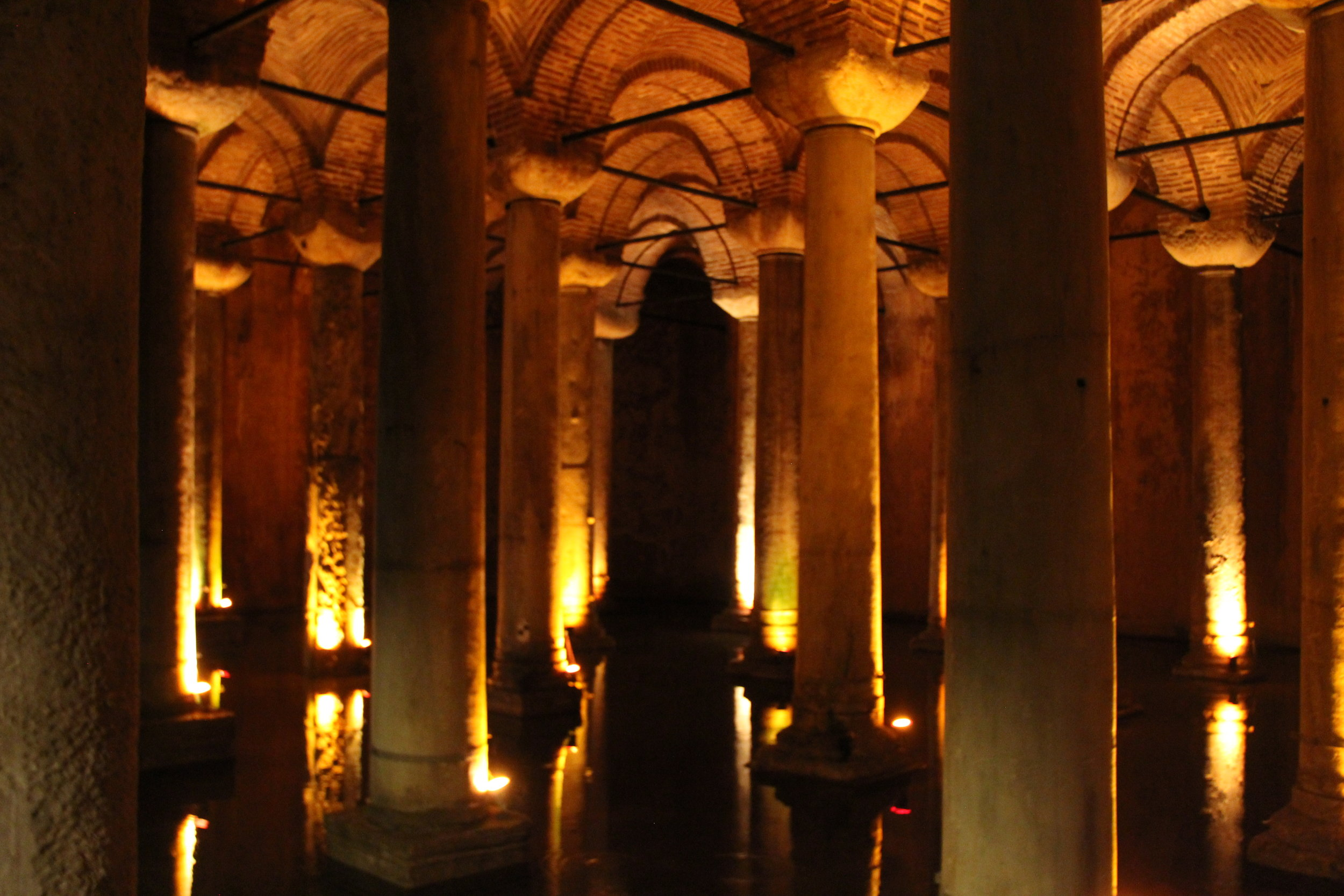 A humble 6th century AD cistern, filled with water to withstand siege for years, now a beauty in it's own right.