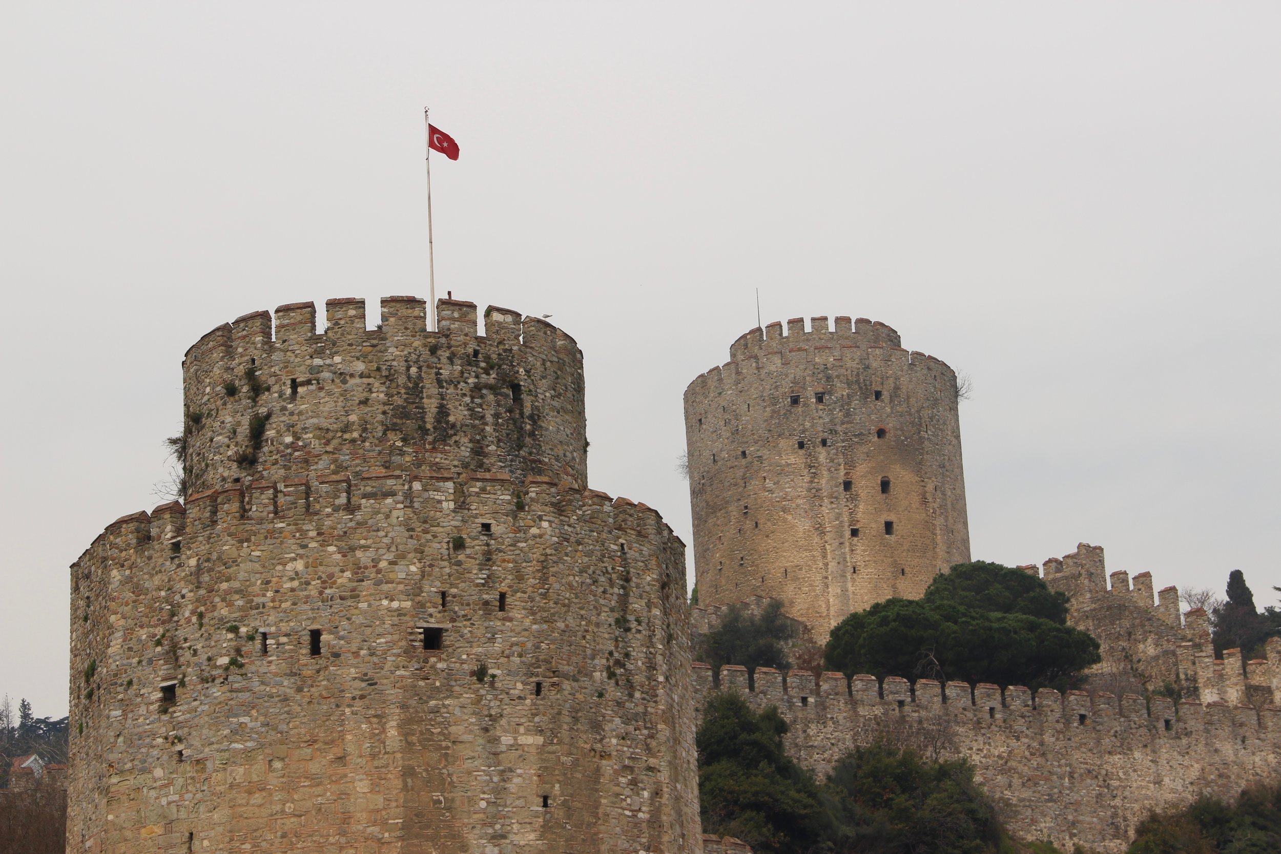 The Fort of Europe built by Mehmed the Conqueror in 4 months as part of his strategy to choke trade in the Bosphorus and take Constantinople. He was only 21 years old!