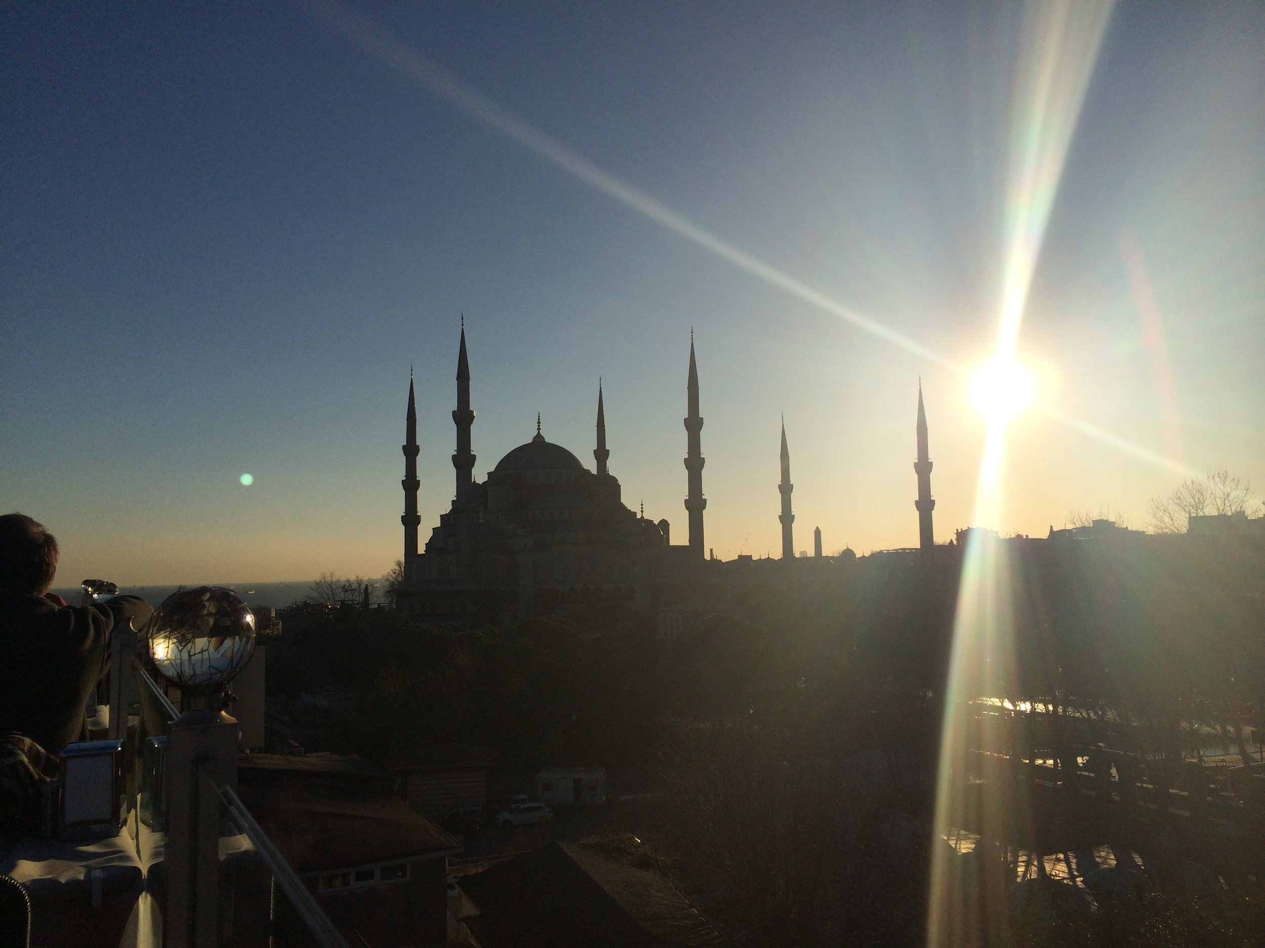 The Sultan Ahmed Mosque (the Blue Mosque) - 1616 AD - at sunset