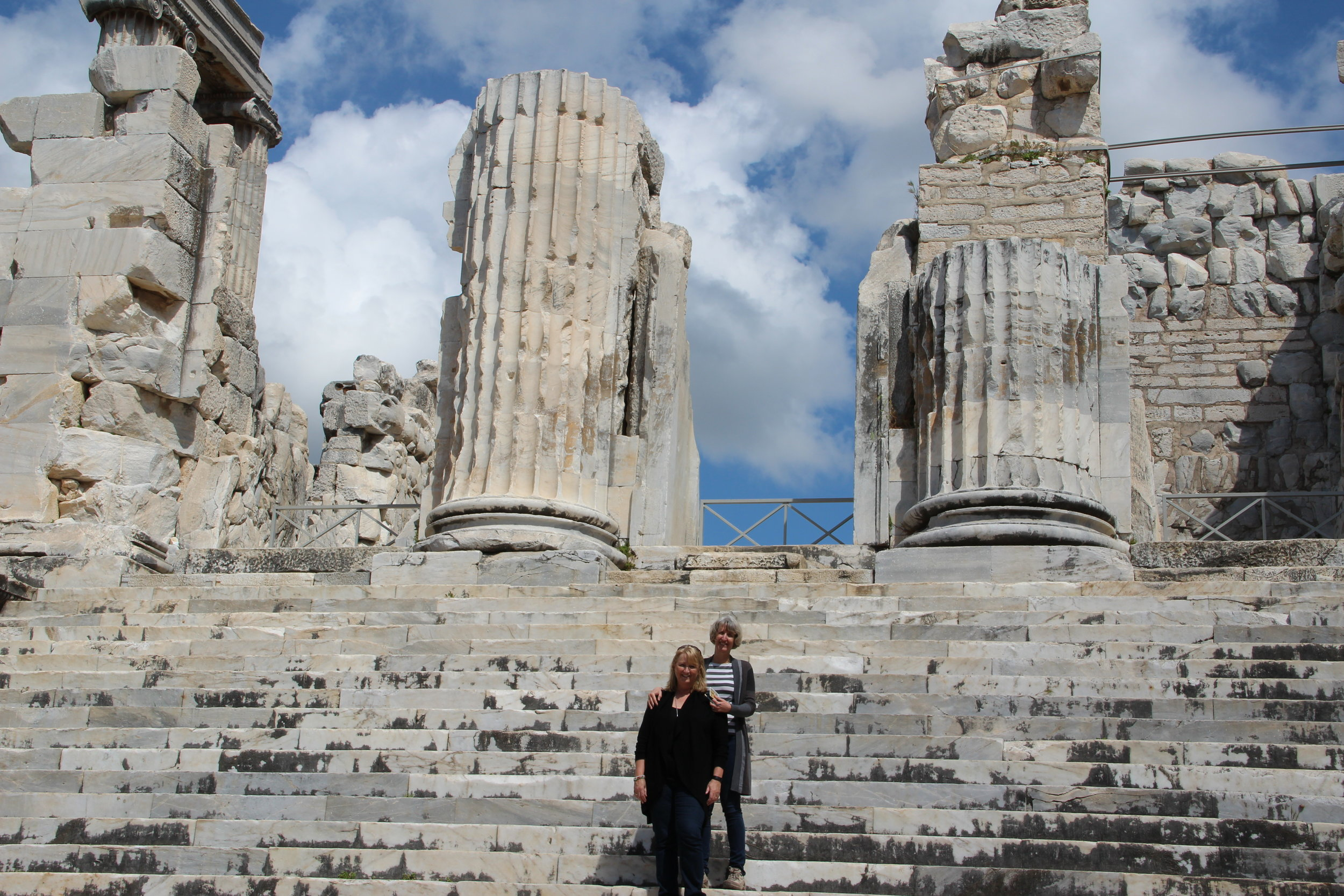 One of the Seven Wonders of the World, the 6th century BC temple of Apollo at Didyma near Miletus. Hard to realize the scale in a photo.